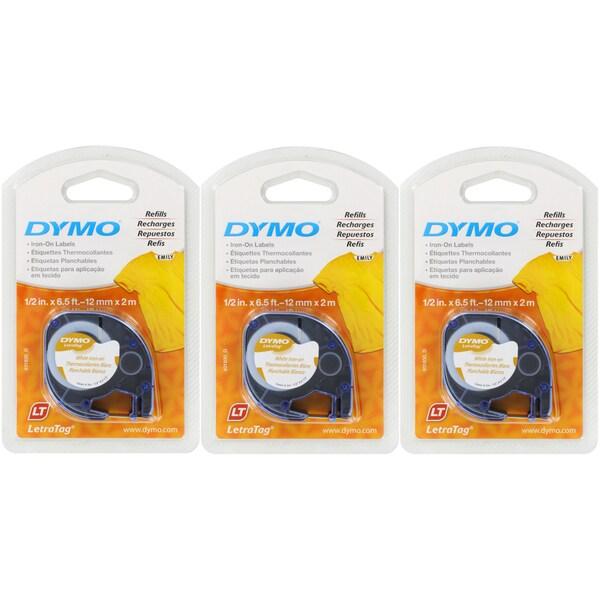 Dymo LetraTag Iron-On Label Tape White Refills