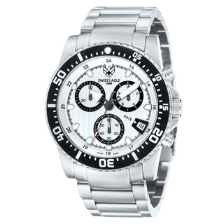 Swiss Eagle Men's 'Sea Ranger' Chronograph White Watch
