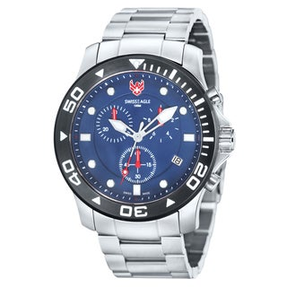Swiss Eagle Men's 'Sea Bridge' Chronograph Blue Watch
