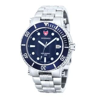 Swiss Eagle Men's 'Covert' Blue Dial Dual Strap Watch
