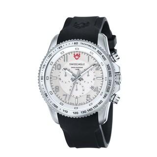 Swiss Eagle Men's 'Landmaster' Chronograph White Dial Watch