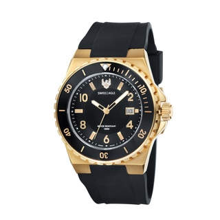 Swiss Eagle Men's 'Response' Goldtone Chronograph Watch
