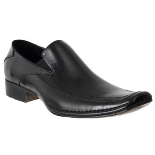 Steve Madden Men's 'Bifff' Black Leather Moc Toe Loafers