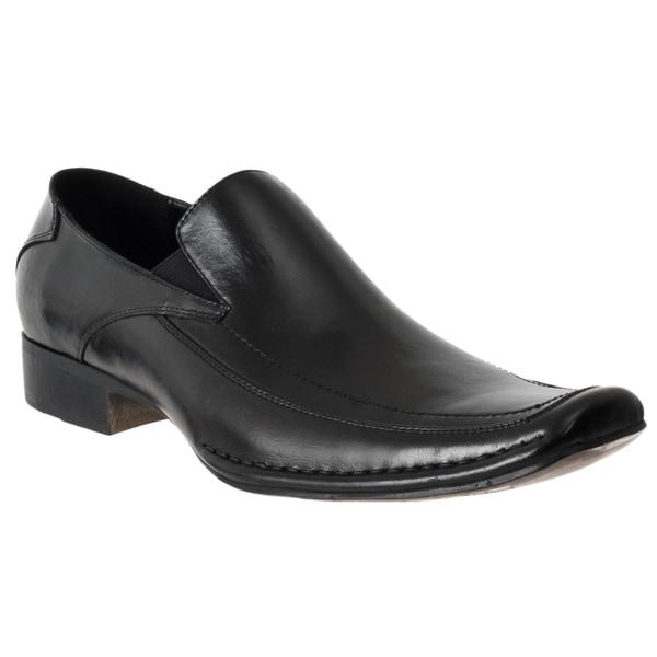 Steve Madden Men's 'Bifff' Black Leather Moc Toe Loafers
