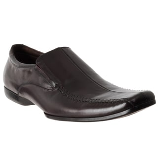 Steve Madden Men's 'Carano' Brown Leather Slip-on Dress Shoes