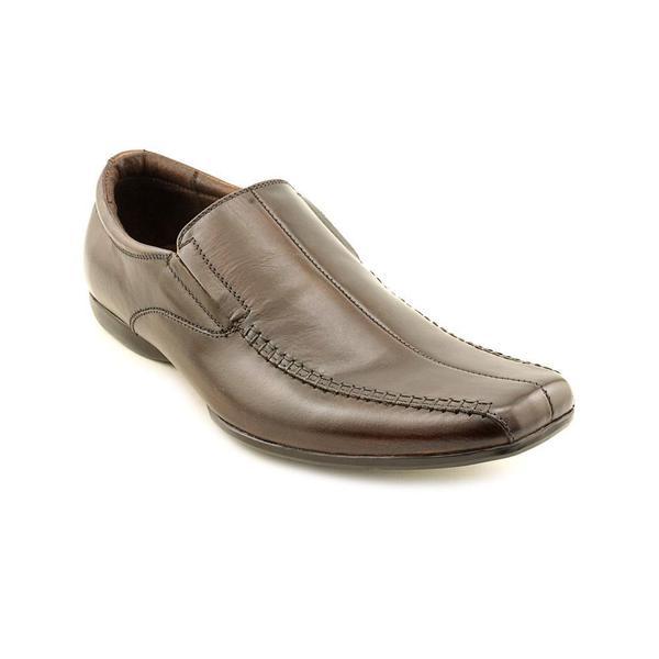 Steve Madden Men's 'Carano' Brown Leather Slip-on Dress Shoes