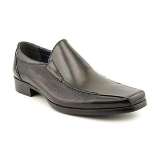 Steve Madden Men's 'Holsterr' Black Leather Slip-on Dress Shoes