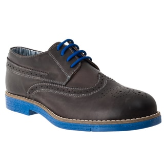 Steve Madden Men's 'Jazzman' Black Two-tone Leather Oxford Shoes