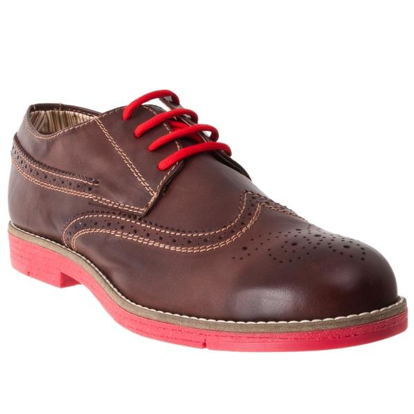Steve Madden Men's 'Jazzman' Brown Leather Oxford Shoes