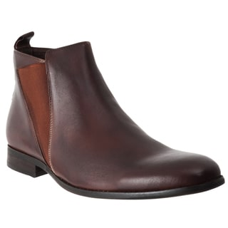Steve Madden Men's 'Machho' Brown Leather Pull-on Boots