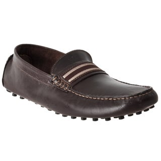 Steve Madden Men's 'Marra' Leather Moc-Toe Driver Shoes