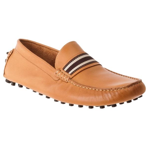 Steve Madden Men's 'Marra' Tan Leather Moc-Toe Driver Shoes