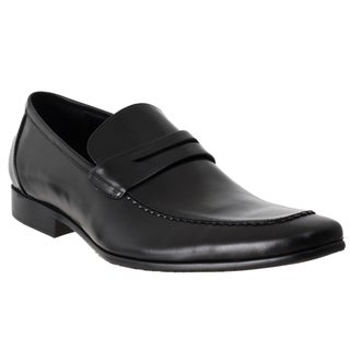 Steve Madden Men's 'Pawnce' Black Leather Loafers