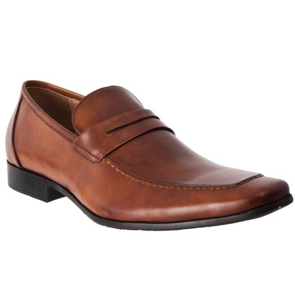 Steve Madden Men's 'Pawnce' Cognac Leather Loafers