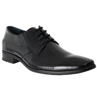 Steve Madden Men's 'Perk' Black Leather Oxford Dress Shoes