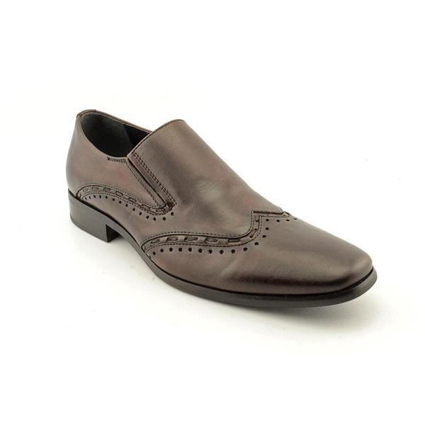 Steve Madden Men's 'Premire' Brown Leather Slip-on Dress Shoes