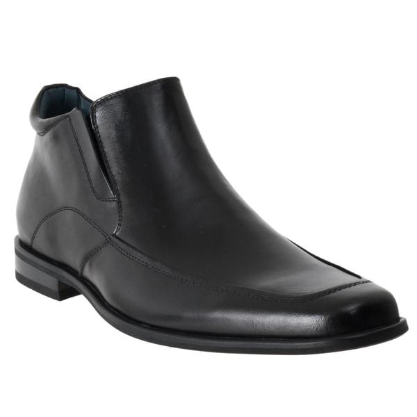 Steve Madden Men's 'Rockwell' Black Leather Dress Boots