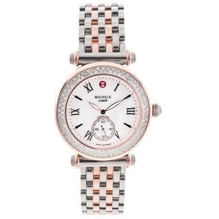 Michele Women's 'Caber' Diamond-accented Two-tone Watch