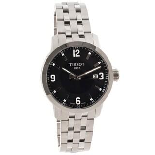 Tissot Men's 'PRC 200' Stainless Steel Black Dial Watch