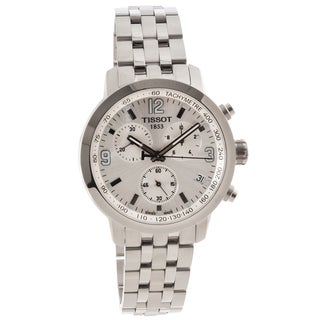 Tissot Men's 'PRC 200' Silver Dial Chronograph Sport Watch