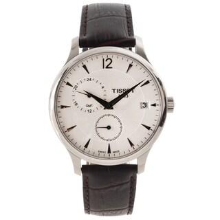 Tissot Men's 'Tradition GMT' White Dial Classic Quartz Watch