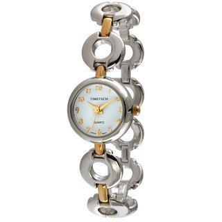 Timetech Women's Two-tone Circular Link Watch