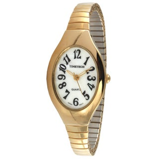 Timetech Women's Goldtone Expansion Watch