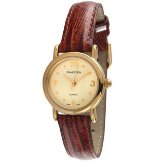 Timetech Women's Brown Leather Strap Watch