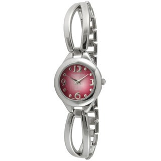 Timetech Women's Rose Dial Half Bangle Watch