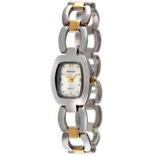 Timetech Women's Two-tone Cushion Case Watch