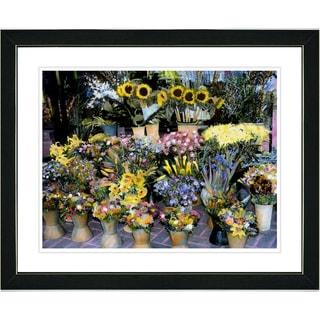 Studio Works Modern 'Flower Stand' Framed Print