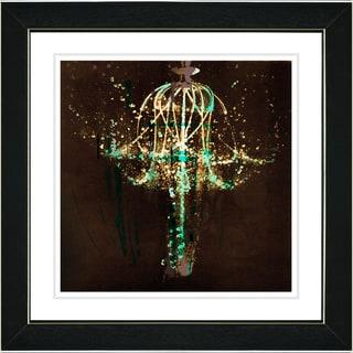 Studio Works Modern 'Green Chandelier' Framed Print
