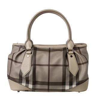 Burberry 'Heathcliff' Medium Trench Smoked Check Tote Bag