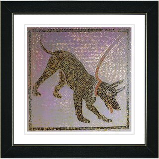 Studio Works Modern 'Vesuvian Brown Dog' Framed Print