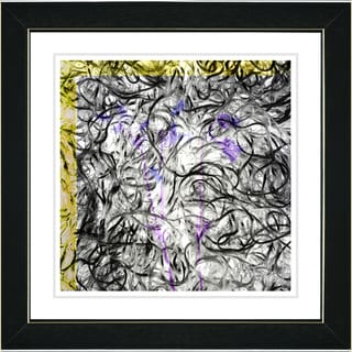 Studio Works Modern 'Dance Moves - Yellow' Framed Print
