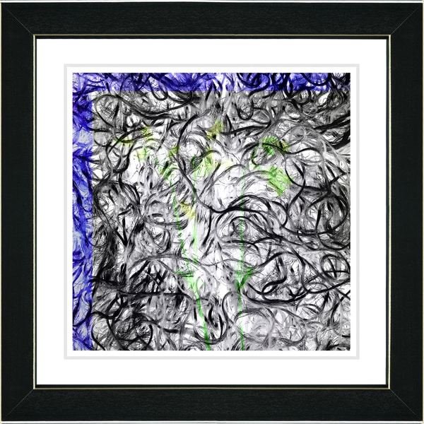 Studio Works Modern 'Dance Moves - Blue' Framed Print