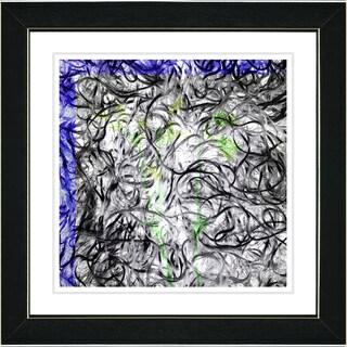 Studio Works Modern 'Dance Moves - Blue' Framed Print
