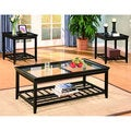 Distressed Black 3-piece Occasional Table Set