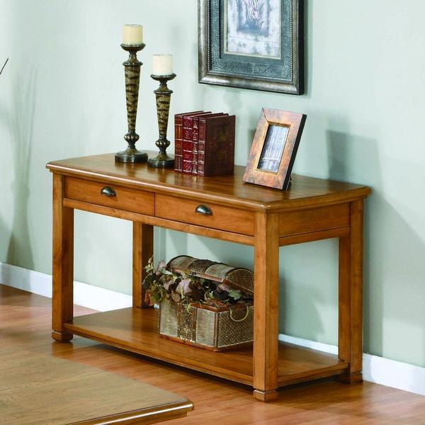light oak veneer sofa console table 15320194 shopping great deals on coffee. Black Bedroom Furniture Sets. Home Design Ideas