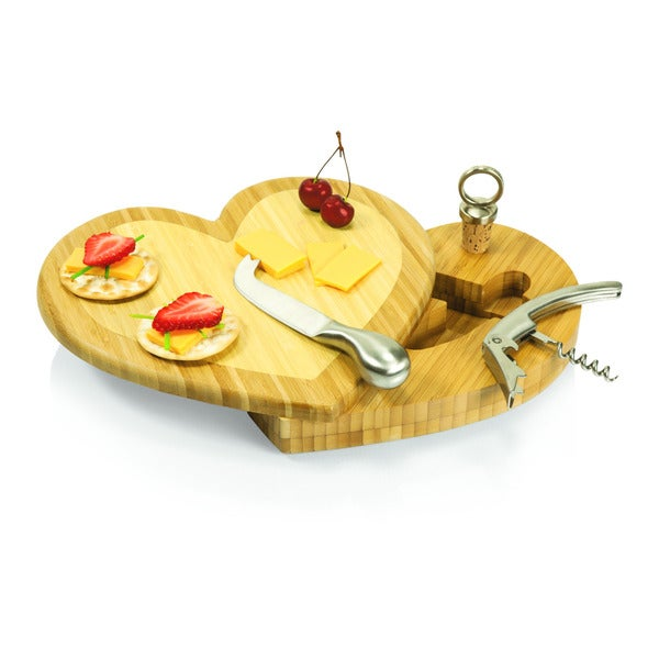 Heart Cutting Board and Cheese Tool Set