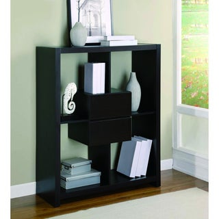 Cappuccino Hollow-core 48-inch Bookcase with Storage Drawers