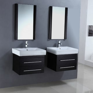Ceramic Sink Top 24-inch Single Sink Dual Bathroom Vanity Set