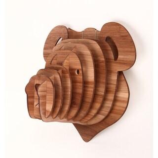 3D Faux Teddy Bear Head Sculpture