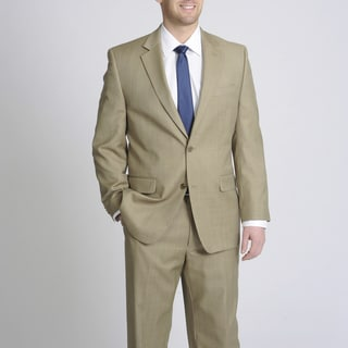 MICHAEL Michael Kors Men's Tan Wool 2-Button Suit