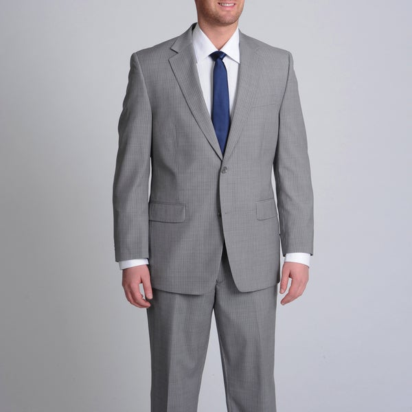 MICHAEL Michael Kors Men's Light Grey Pinstripe Wool Suit