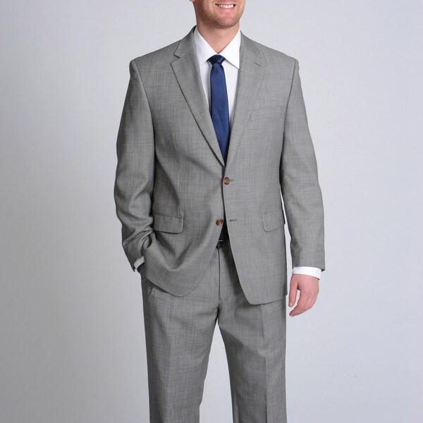 LAUREN by Ralph Lauren Men's Grey Shark Wool Suit