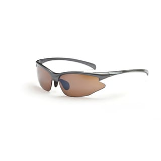 Optic Nerve 'Omnium' Metallic Grey Sport Sunglasses with 2 Lens Pairs
