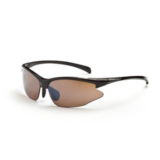 Optic Nerve 'Omnium' Shiny Black Sport Sunglasses with 2 Lens Pairs