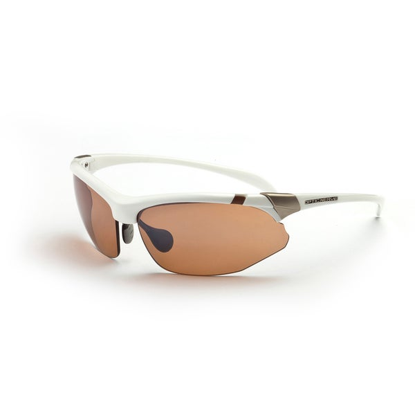 Optic Nerve Women's 'Hermosa' White Sport Sunglasses with 2 Lens Pairs