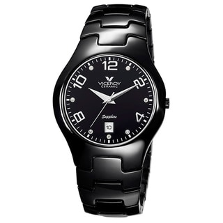 Viceroy Spain Women's 'Ceramicas' Sapphire Black Ceramic Crystal Watch